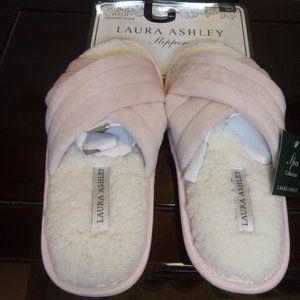 🇺🇸 3/$30 Laura Ashley Pink Slippers Memory Foam